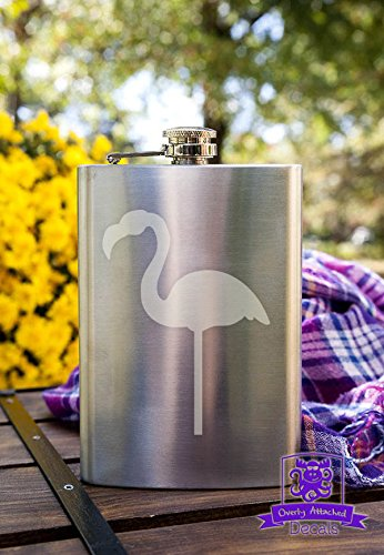 Lawn Flamingo 8 Ounce Stainless Steel Flask