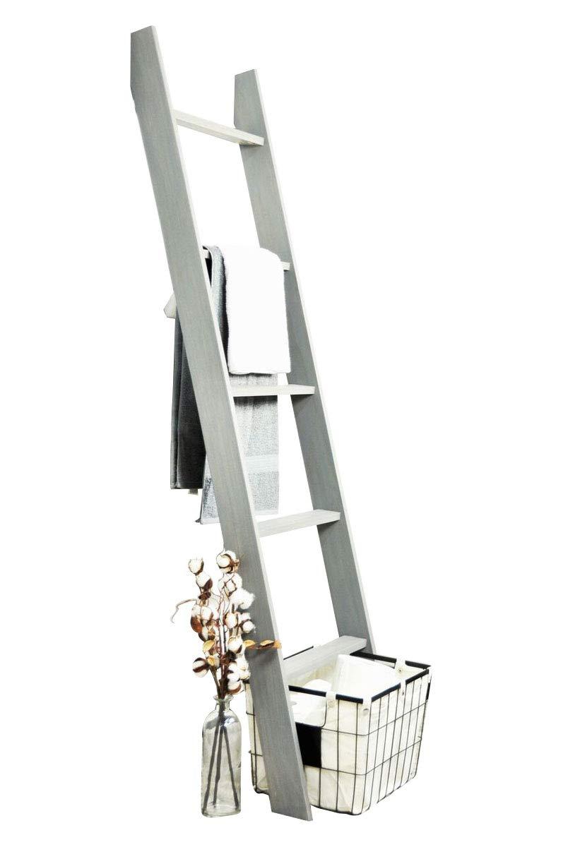 BrandtWorks 204L Weathered Gray 72'' Decorative Blanket Ladder by BrandtWorks