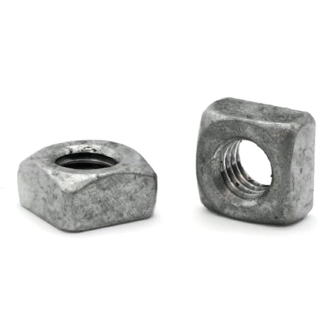 Quantity: 25 Grade 2 Steel 7//8-9 Square Nuts Hot Dip Galvanized