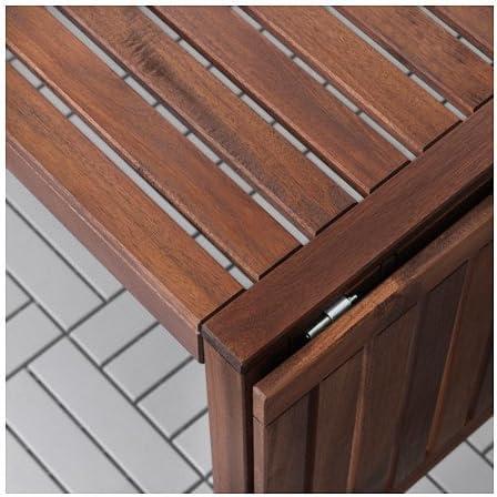 IKEA APPLARO, mesa de hoja gota, marrón: Amazon.es: Hogar