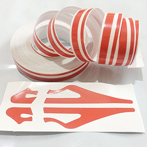 NCElec Striping Pin Stripe Steamline Double Line Tape Car Body Decal Vinyl Sticker (Red)