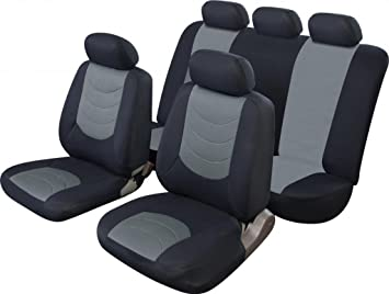 Leather Look MAYFAIR Black FRONT Car Seat Covers HYUNDAI TRAJET
