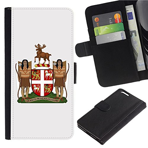 - [Coat of Arms of Newfoundland and Labrador] for LG Aristo Case/LG Phoenix 3 / K8 2017 / Fortune/Risio 2 / K4 2017 / V3, Flip Leather Wallet Holsters Pouch Skin Case