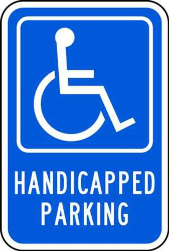 (ZING 2196 Eco Parking Sign, Handicapped Parking Pictogram, 18Hx12W, Engineer Grade Prismatic, Recycled Aluminum)