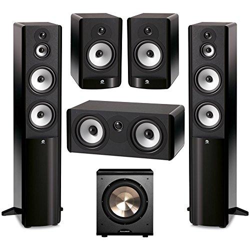 Boston Acoustics 5.1 System with 2 A360 Floorstanding Speakers, 1 A225C Center Channel Speaker, 2 A26 Bookshelf Speaker,