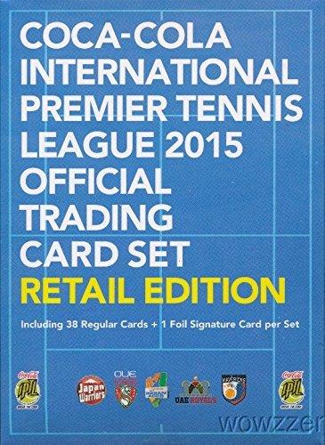 Coca-Cola International Premier Tennis League 2015 Epoch Official Trading Card Retail Set with 38 Cards & Facsmile Signature Card! Set includes Roger Federer, Serena Williams, Novak Djokovic & More! (Tennis Card Set)