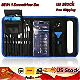 Screwdriver Set, Magnetic Driver Kit, Professional Repair Tool Kit, 86-in-1 Precision Screwdriver Kit with Portable Bag, Flexible Shaft, Electronics Repair Tool Kit, Portable Bag for PS4, Laptop, iPad