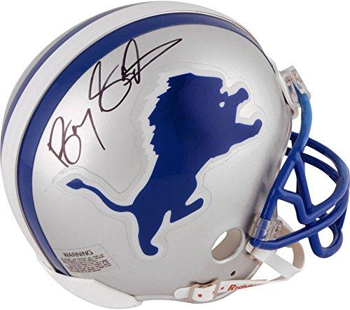 Lions Autographed Mini Helmet (Barry Sanders Detroit Lions Autographed Riddell Mini Helmet - Fanatics Authentic Certified - Autographed NFL Mini Helmets)