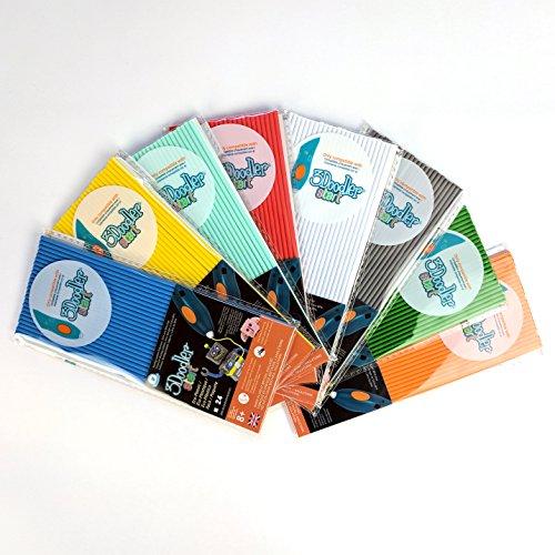 - 3Doodler Start Refill Plastic Bundle, 8 Pack,  Compatible with Start 3D Pen for Kids