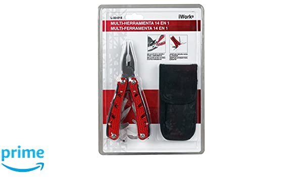 iWork L-33-016 Multi Herramientas 14 en 1, 184 x 264 x 4 MM: Amazon.es: Bricolaje y herramientas