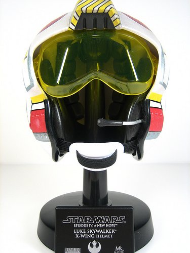 Star Wars Master Replicas - Star Wars X-Wing Pilot Luke Scaled Helmet Replica by Master Replicas