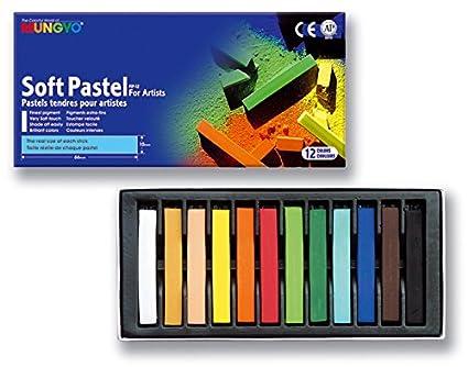 Mungyo Set de 12 Crayons secs carrés Sanguine MP12EP riche onctueux lightfast