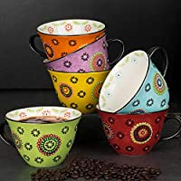 Signature Stoneware Mugs Pack of 6 in 1 Pack, 1 Count