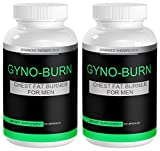 2 Gyno-Burn Gynecomastia Pills Male Chest Fat Burner Reduces Breast Fat and Eliminates Embarrassing Man Boobs Fast. Male Boob Fat Burners Target Stubborn Man Boobs Helping You Lose The Male Boobs