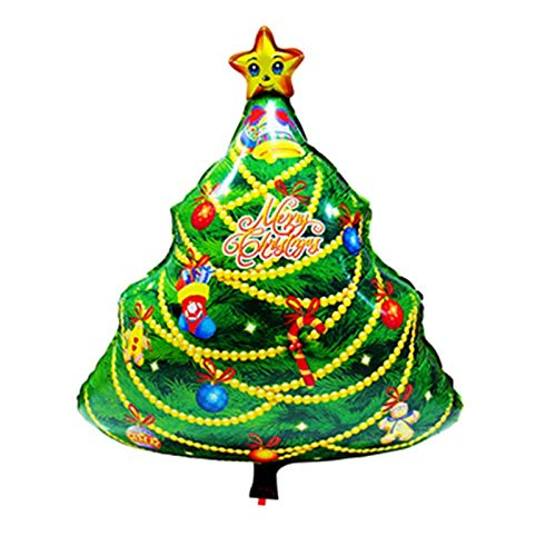 Christmas Party - 1pc 45x63cm Christmas Tree Aluminum Foil Balloon Party Wedding Balloons Decoration Merry Xmas Gift - Dress Women Banner Photo Music Party Envelopes Shirts Bulk Bags -
