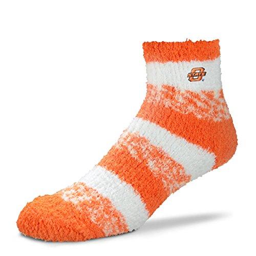 For Bare Feet NCAA RMC Pro Stripe Fuzzy Sleep Soft Sock -Oklahoma State ()