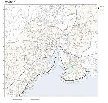 New Haven Zip Code Map.Amazon Com Zip Code Wall Map Of New Haven Ct Zip Code Map Not