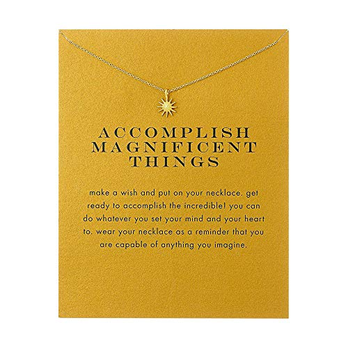 - QXFQJT Sun Necklace Pendant Chain for Women