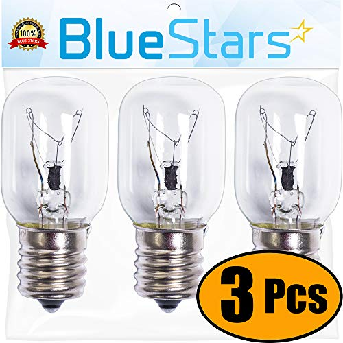 Ultra Durable 8206232A Microwave Light Bulb Replacement Part by Blue Stars - Exact Fit for Whirlpool Maytag Microwaves - Replaces 8206232A 1890433 8206232 AP4512653 - PACK OF 3 (Whirlpool Range Parts Hood)
