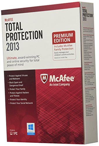 McAfee Total Pro Family Pro Bundle 2013