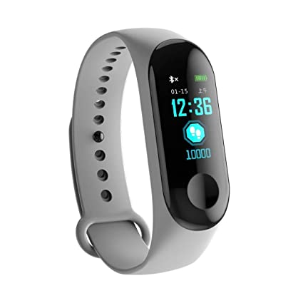 56aedfb6be M3 Fitness Band Smart Wrist Bands Watch, Bluetooth Enabled Activity Tracker  with Heart Rate Monitor