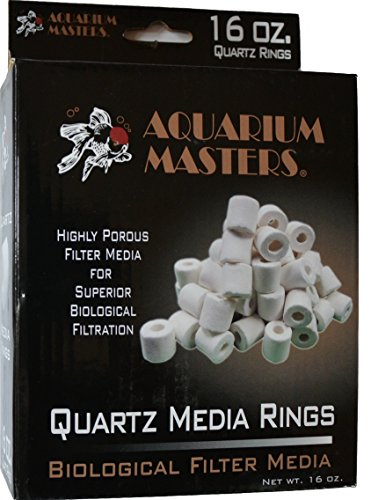 1 Box of Professional Filter Bio Rings Media for Canister Filters, Refugium & Sump Filters, Substrate or Mechanical Filters! Sintered Quartz,Each Box is 16 OZ (453 Grams) (Refugium Mineral Mud)