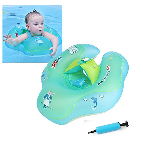 KOBWA Baby Swimming Float Ring, Inflatable Baby Swim Float U