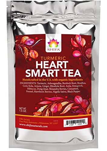 Shifa Turmeric Heart Smart Tea with Herbs, Phytonutrients, and Antioxidants (1.5 oz)