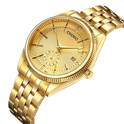 Watches Men Luxury Brand Men Sports Watches Waterproof Full Steel Quartz Men's Full gold - Shop Luxury Brand