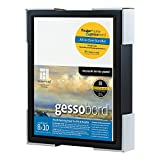 Ampersand Packaged Kit with 8x10 Inch Black Float Frame and 8x10 Inch Gessobord Panel (FK78B08BG)