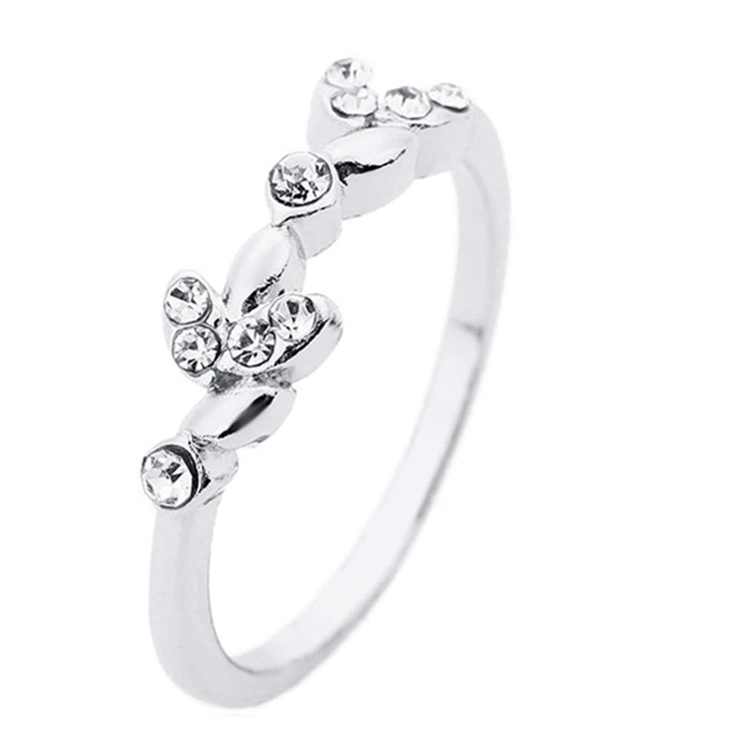 amazon lethez leaves rings women crystal rhinestone leaf Leaf Circle amazon lethez leaves rings women crystal rhinestone leaf wedding engagement bands party jewelry best gift jewelry