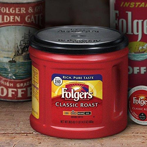 folgers classic roast ground coffee  medium roast  30 5