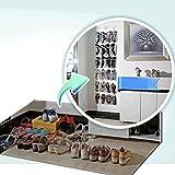 Pixnor Over The Door Clear Shoe Organizer Storage