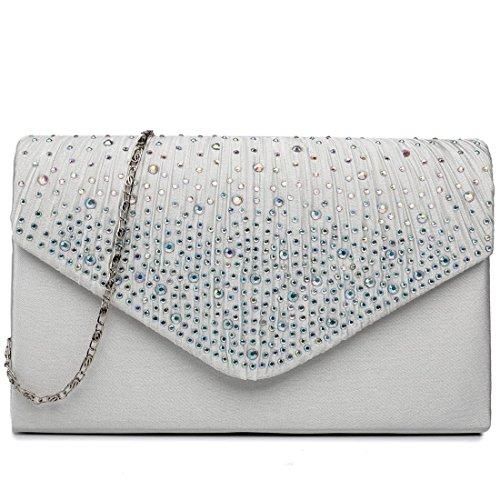 Beige Lulu Evening Ladies Bag Handbag Miss Wedding Clutch Diamante Bridal wdzXqqpxf