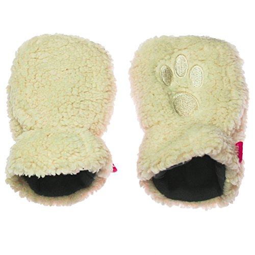 (Magnetic Me Unisex Warm Fleece Infant Mittens with Magnet Clips 18-24 Cream)