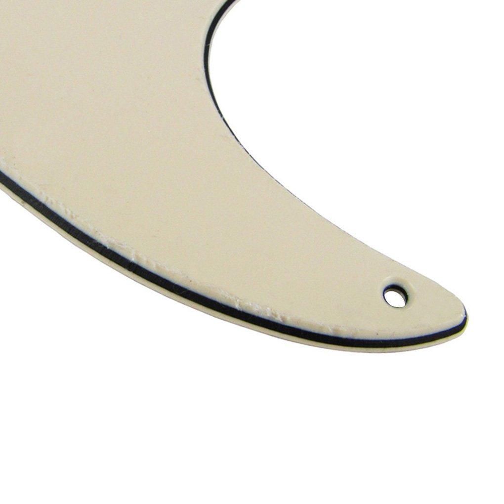 IKN/® Grande alluminio lamina SSS Standard Battipenna per Strat Style chitarra sostituzione,3-Ply 8 buche con viti,Crema