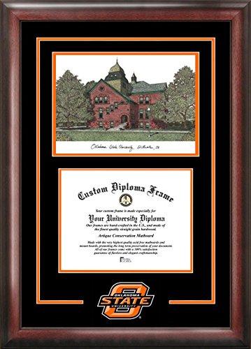 Campus Images OK999SG Oklahoma State Cowboys Spirit Graduate Diploma Frame, 8.5