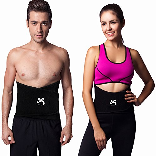 "Jinzhikang Premium High Waist Trimmer Belt for Women Men Body Shaper Slimming Workout Sauna Yoga GYM Exercise Weight Loss – Adjustable Size M 9″ X forty two"" – DiZiSports Store"