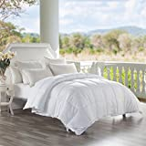 SNOWMAN White Goose Down and Feather Filled 100% Cotton Cover Down Proof Comforter Queen Size 90x90inches