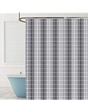 """Shower Curtains No Liner, Ylserled Waterproof Polyester Shower Curtain Fabric Set with Hooks for Bathroom Decorations, Minimalism Design 72"""" x 72"""""""