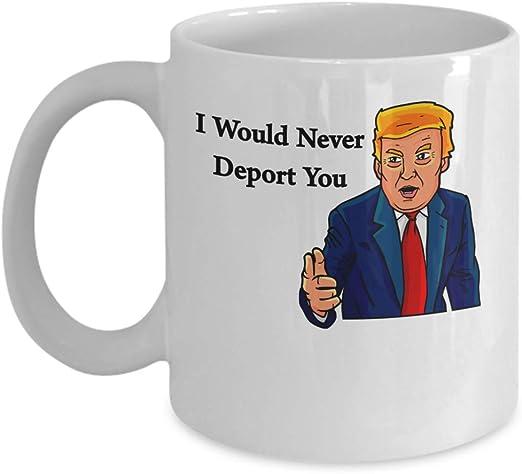 I Would Never Deport You Funny Trump Gifts Donald Trump Valentine Mug