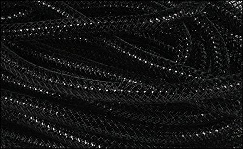 Homemade Alien Costumes Ideas (Deco Mesh Flex Tubing with Metallic Foil (Black) 8mm x 30 Yards : RE3004E5)