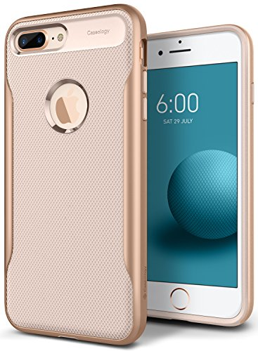 Caseology Apex 2.0 Series iPhone 8 Plus Cover Case with Design Slim Protective for Apple iPhone 8 Plus (2017) Only - Beige Gold - Design Apple Iphone