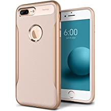 Caseology Apex 2.0 Series iPhone 8 Plus Cover Case with Design Slim Protective for Apple iPhone 8 Plus (2017) Only - Beige Gold