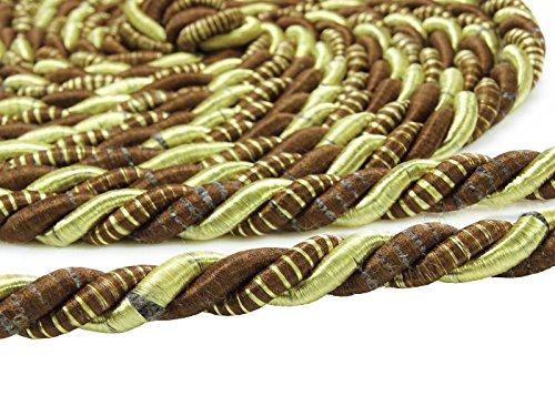 Yds Lip Cord - Upholstery Trim Brown Tie Back Trim Braided Lip Cord Curtain Braid Piping 1 Yds