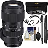 Sigma 50-100mm f/1.8 Art DC HSM Zoom Lens with 3 Filters + Monopod + Kit for Nikon Digital SLR Cameras