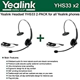 Yealink YHS33 2-PACK Wideband Headset for Yealink IP Phones, plug and play