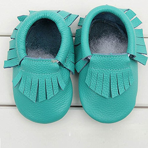 a9cef4166a8c3 FEITONG(TM) Baby Tassel Soft Sole Cow Leather Shoes Infant Boy Girl ...