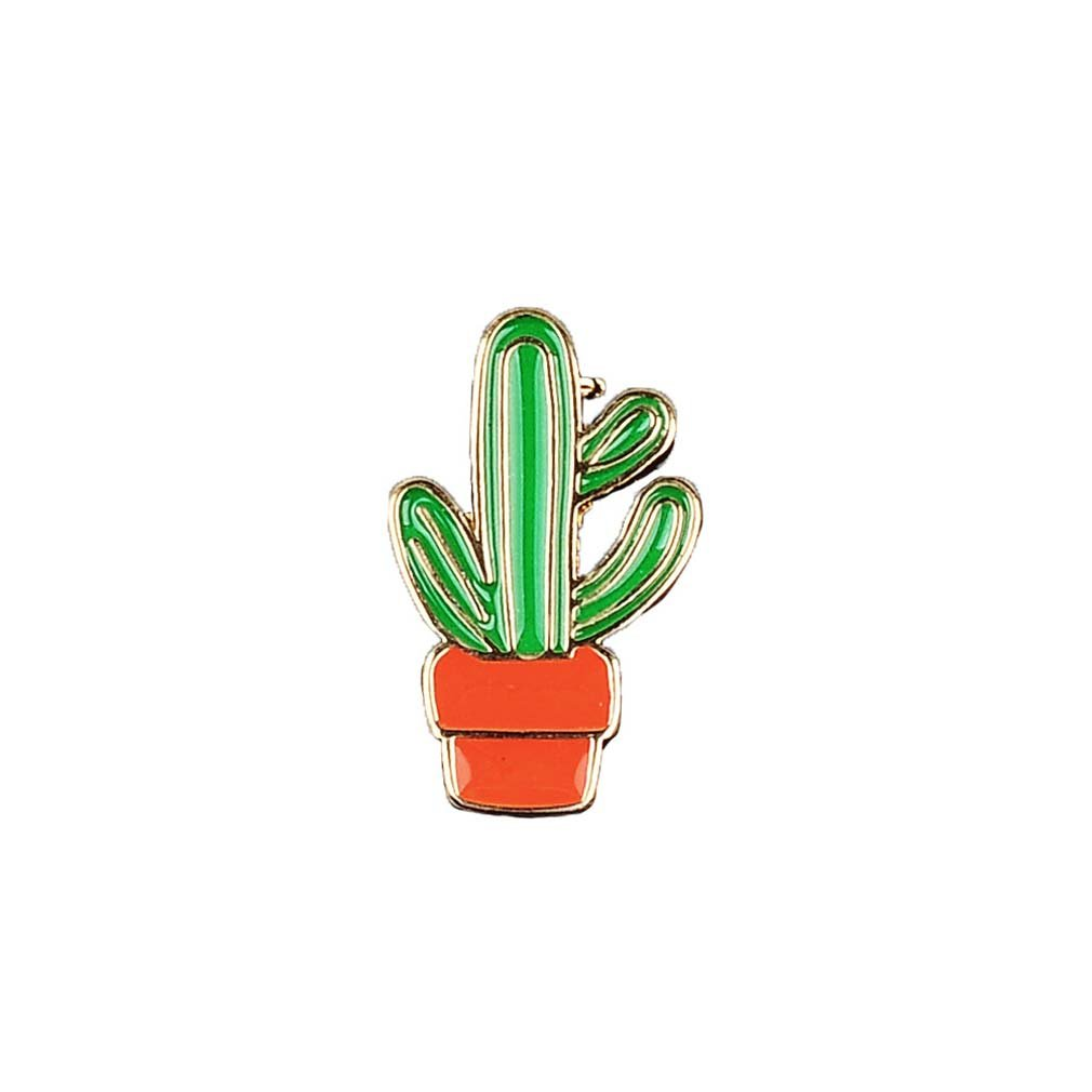 Souarts Womens Cactus Potted Plants Enamel Brooch Pin Badge for Clothes Bags Backpacks Lapel Pin Hellocrafts