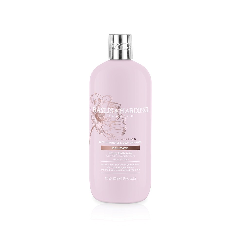 Baylis & Harding Moisturising Bath Soak, Jojoba, Silk and Almond Oil, 500 ml, Pack of 3 BMMBSJO